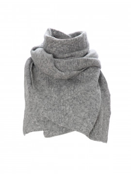 Blue Sportswear Boston cable scarf - Grey melange