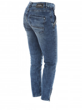 Mos Mosh Etta shine zip 7/8 jeans - Blue denim