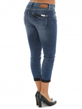 Mos Mosh Berlin Zip 7/8 jeans - Blue denim