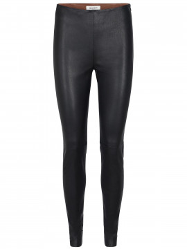 Mos Mosh Lucille stretch leather leggings - Black