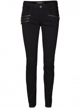 Mos Mosh Rosie zip jeans - Black denim