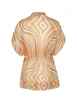 Mos Mosh Nexa swirl top - Sun orange printed