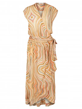 Mos Mosh Nexa swirl dress - Sun orange printed