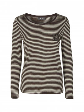 Mos Mosh Alisha O-neck L/S Tee - Coffee Bean