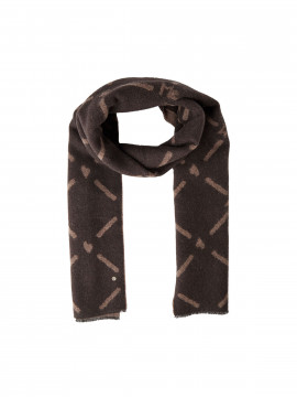 Mos Mosh Monogram scarf - Coffee bean