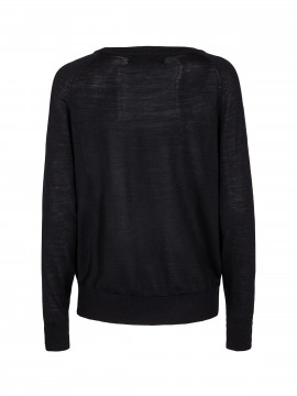 Mos Mosh  Winta O-neck knit - Black