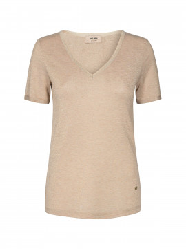 Mos Mosh Casio V-neck S/S Tee - Gold