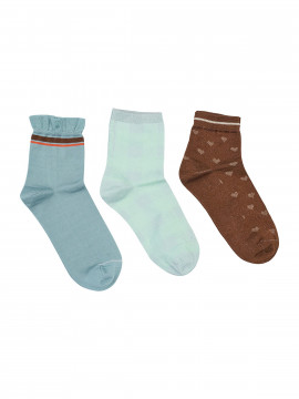 Mos Mosh Lurex socks 3 stk. - Mint haze