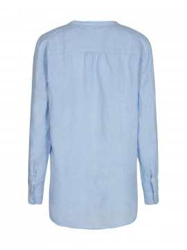 Mos Mosh Danna linnen top - Chambray blue