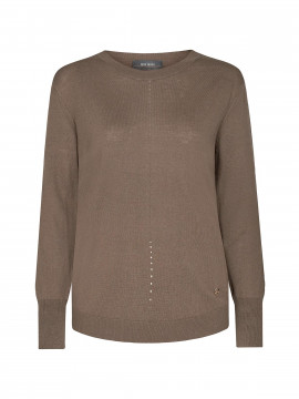 Mos Mosh Vinette O-neck Knit - Chocolate chip
