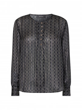 Mos Mosh Perla tile L/S top - Black