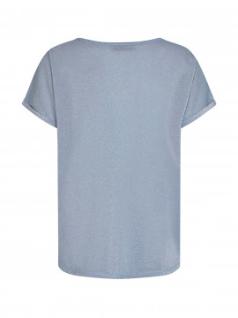 Mos Mosh Kay O-neck tee - Bel air blue