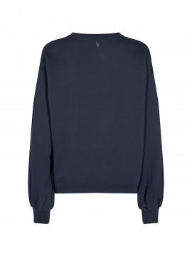 Mos Mosh Zanna O-neck sweat - Navy