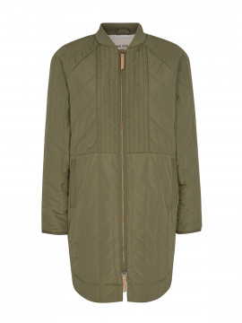 Mos Mosh Sila quilted coat - army