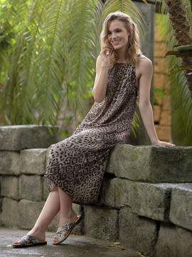 Prepair Vara long dress - Leopard