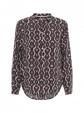Costamani  Lexis harlekin shirt - Dark rose