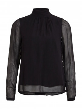 Object Cindy L/S top - Black