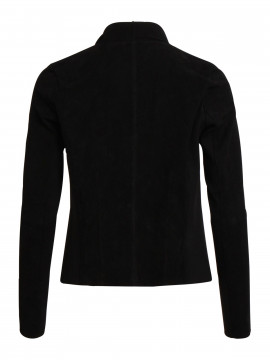 Object Lin pacy suede jacket - Black