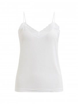 Object Leena lace singlet - White