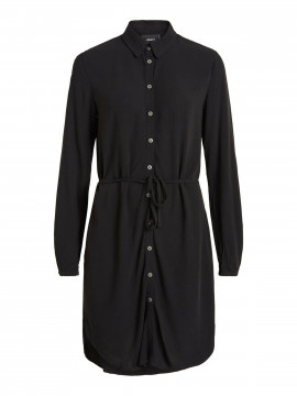 Object Bay L/S shirt dress - Black