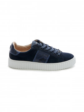 Philip Hog Mia suede sneakers - Navy