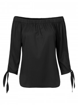 CS#15 Silje off shoulder top - Black