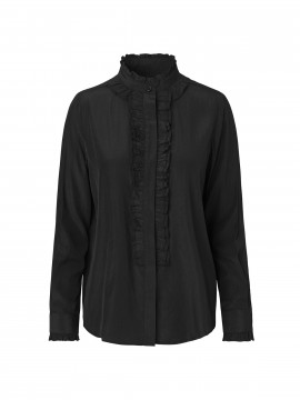 CS#15 Solid lace shirt - Black