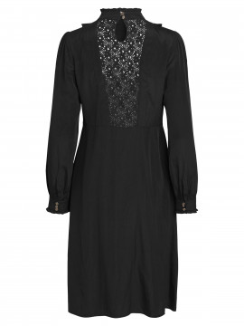 CS#15 Lace L/S dress - Black