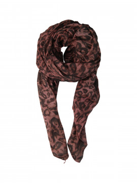 Black Colour Wild scarf - Sienna
