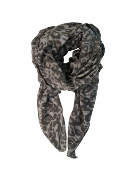 Black Colour Wild scarf - Light grey