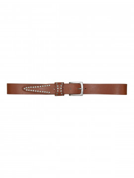 Black Colour Bronco studs belt - Tan