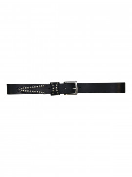 Black Colour Bronco studs belt - Black