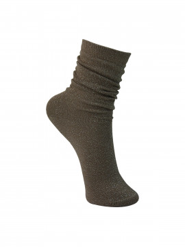Black Colour Lurex sock - Sand