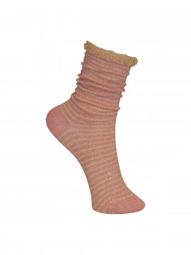 Black Colour Stripe sock - Rosegold