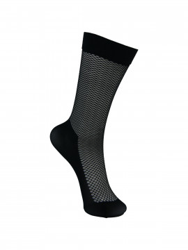 Black Colour Knee net sock - Black