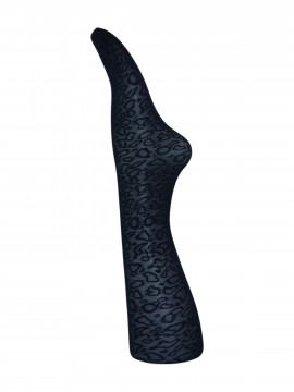 Black Colour Leopard tights - Navy