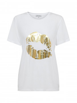 Continue Dea Lip tee - White gold