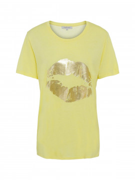 Continue Dea Lip tee - Yellow gold
