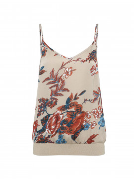 Continue Isadora strap top - Sand / flower
