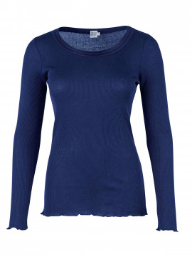 Saint Tropez Silk L/S top - Patriot blue
