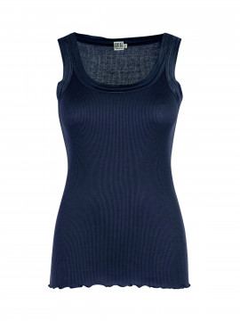 Saint Tropez Silk tank top - Navy