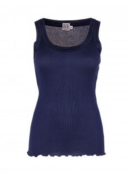 Saint Tropez Silk tank top - Patriot blue