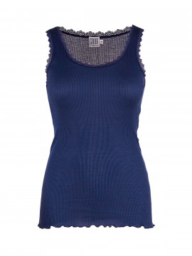 Saint Tropez Silk Lace top - Patriot blue