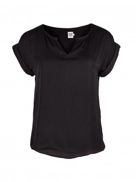 Saint Tropez Sally S/S top - Black