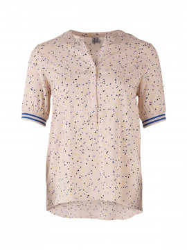 Saint Tropez Tiny dot S/S top - Cream