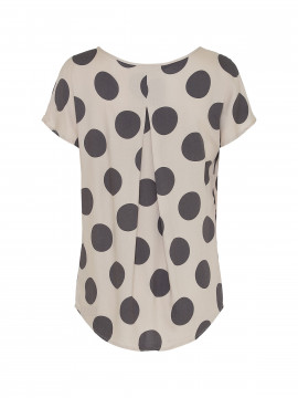 Saint Tropez Sharon big dot top - Sand
