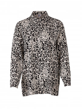 Saint Tropez Animal P shirt - Stone