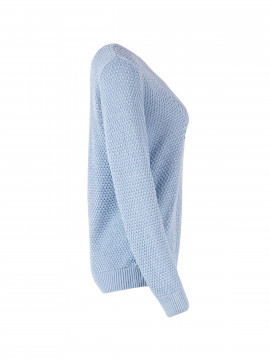 Saint tropez Cabel V-neck knit - Light blue