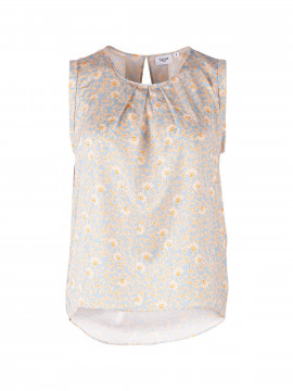 Saint tropez Fred small flower top - Blue fog