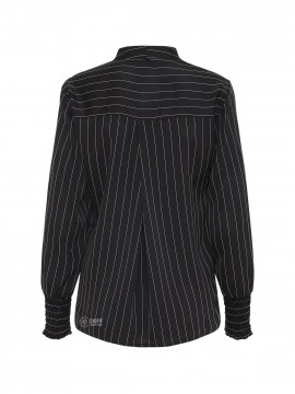 One Two Luxzuz Inge stripe top - Black